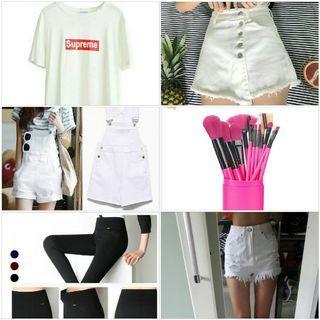 🚚 SALW CLEARANCE Uzzlang apparel shirt shorts skorts make up brush