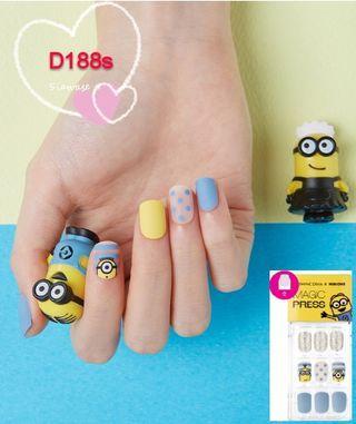 Dashing Diva 韓國 Minions Gel甲貼 短款 Artificial nail D188s