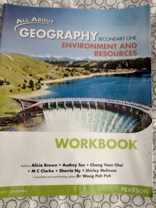 Geography workbook lower sec
