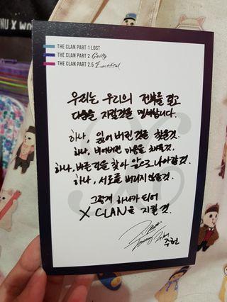 Monsta X The Clan Pt.2.5 Joohoney oath paper