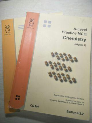 A level chemistry practice books( MCQ+ Question)