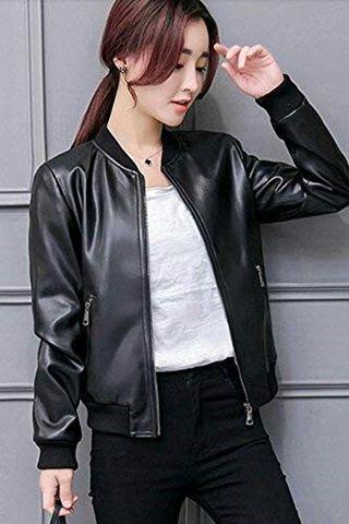 Jaket bombers wanita korea