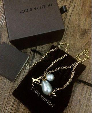 LOUIS VUITTON Pandan tiff Damier Pearl M66322 necklace T810205