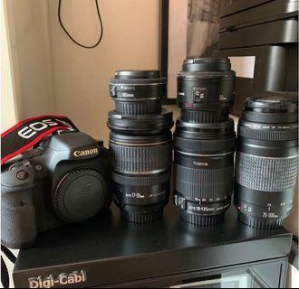 🚚 Canon 7d + lens