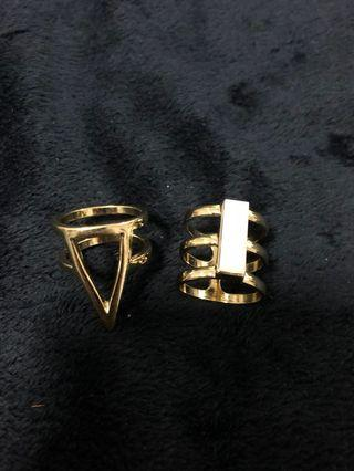 Lovisa Set of 2 gold rings