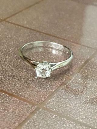 天然鑽石單顆40分18k鑽戒八心八箭車工白又乾淨 限時優惠價
