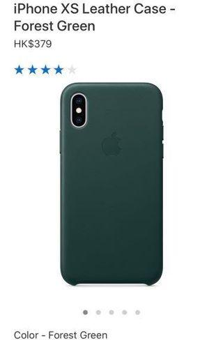 Apple iPhone XS leather case (Forest Green)