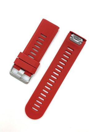 26mm Red Silicon Rubber Watch Strap Watchband for Garmin Smart watch with Quick Released / Quick Fit Function