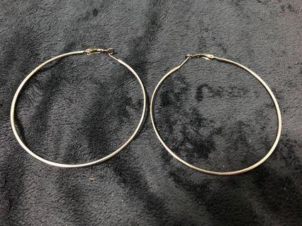Big black hoops earrings