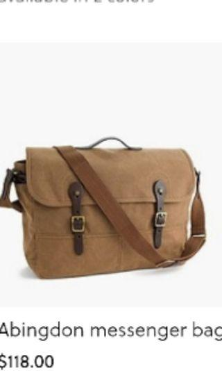 J.Crew Abington Messenger Bag (Not Filson)