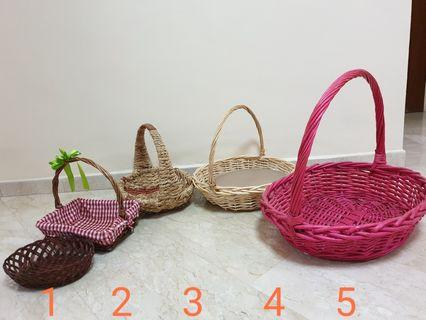 5 Hamper Rattan Gift Baskets