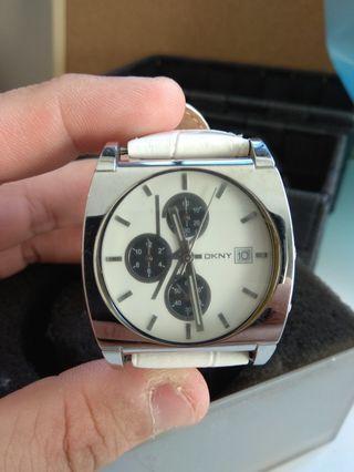 Dkny Men's Watch (White,  used)