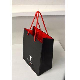 DFS T Galleria 黑色大紙袋 37.5x27.5cm 15cm底
