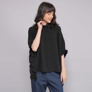 Jimma black rimple oversized blouse