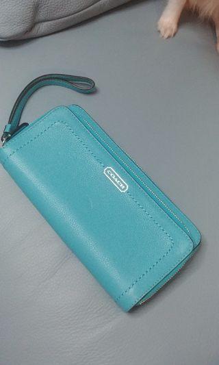 Coach Blue Wallet