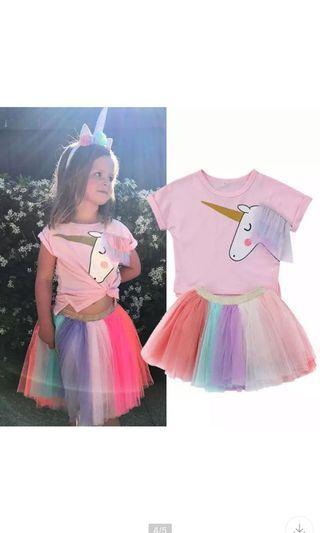 Instock unicorn tutu dress brand new size 2-7yrs old