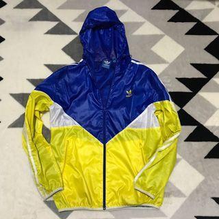 Adidas 愛迪達運動外套(藍黃配色)