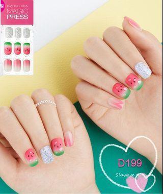 韓國 Korea Dashing Diva 指甲貼 gel nail 西瓜 夏季 D199