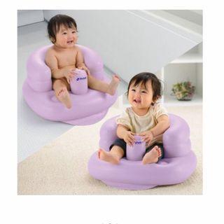 日本 Richell 嬰兒 幼兒 多功能 充氣 沙發椅 洗澡椅 餐椅 學習椅