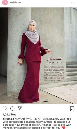 Amanda kurung by Errida.co