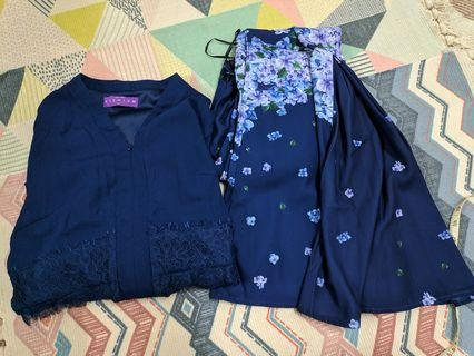 Poplook Blouse & Skirt / Baju Kurung