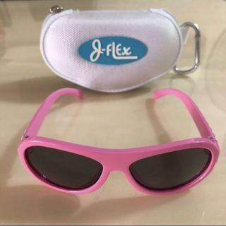 🕶J-FLEX🕶 Girls' Authentic Children/ Kids Princess Hearts Pink Polarised/ Polarized 100% UV Protection Sunglasses C/W Box/ Casing + Carabiner Hook