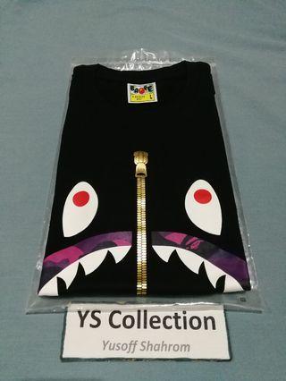 Bape Shark Purple Camo Tee