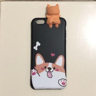 Case iPhone 6 / 6s corgi dog black softcase