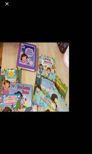 Dora books - 9 stories plus 1 big hard bound