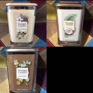 Assortment of Yankee Candle Large Square Jar