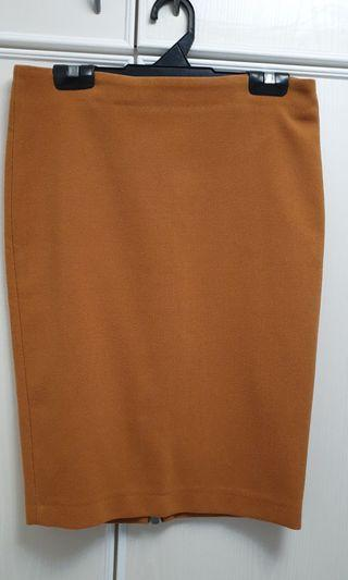 Zara Brown orange skirt