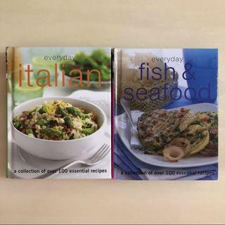 🚚 🍝EVERYDAY🐟 Italian + Fish & Seafood Hard Cover Cook/ Cooking/ Recipe Book