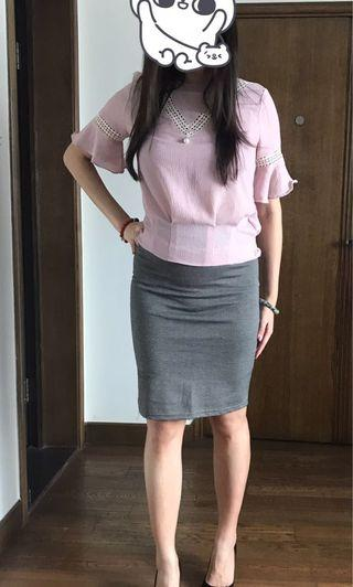 Pink lace top (made in Korea)