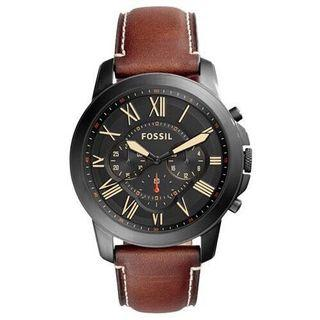 [PRE-OWNED] Fossil Men Grant Chronograph Brown Leather Watch (FS5241)