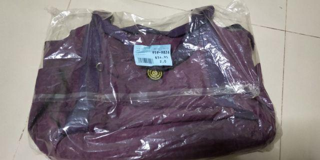 🚚 Purple bag with multiple compartment *Brand new*