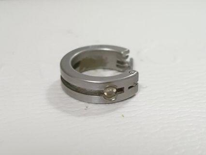 Stainless steel with diamond earring