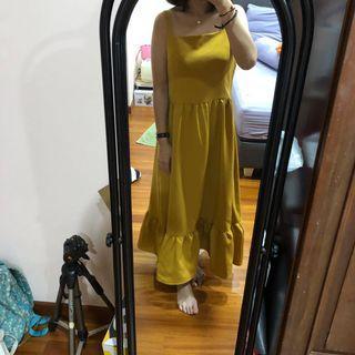 Cloth Inc Sunny Dress Mustard - Size L #BAPAU