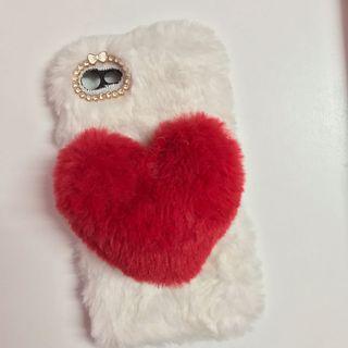 Fluffy 3D heart case