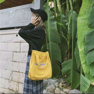 🚚 百搭薑黃色帆布包