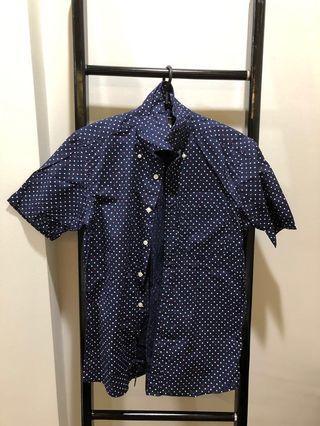 BN Uniqlo Pokadot Short Sleeve Shirt