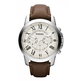 ** Dashing SALES ** Fossil Grant Chronograph Egg Shell Dial Men's Watch