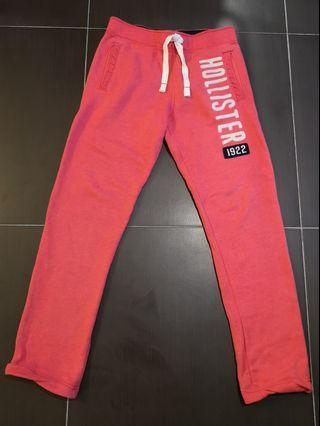 HOLLISTER RED JOGGERS LIKE NEW 99% RRP $500+ HKD