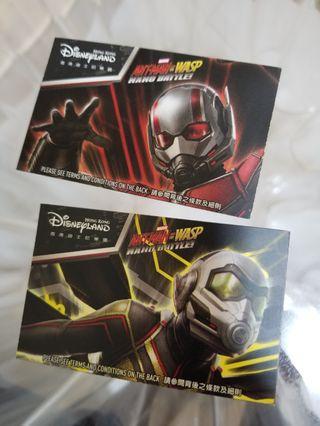 迪士尼成人門票兩張 入場券 Disney adult tickets x 2