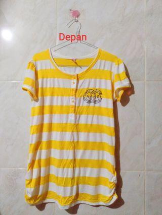 Baju strip kuning