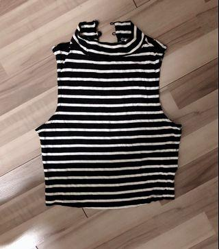 New Look Striped Crop Top