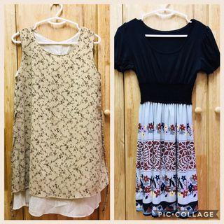 Preloved 2 pcs of Ladies Korea design dress ALL RM50 only