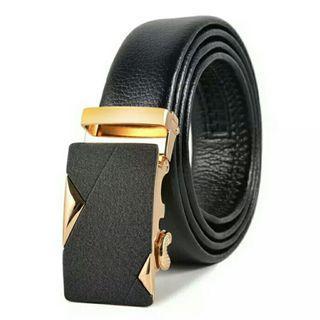 Black Belt Men PU Leather Belts for Men Strap Male Metal Automatic Buckle