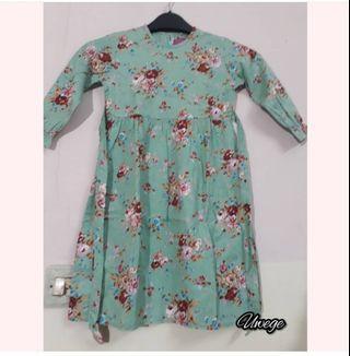Dress gamis anak katun jepang ori