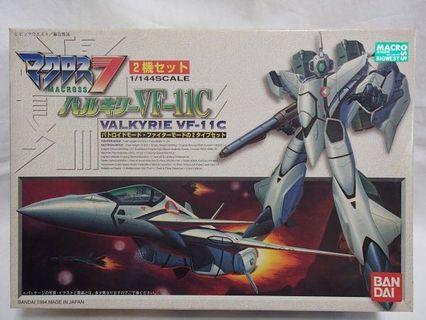 全新未砌 一盒2機 1/144 VF-11C Valkyrie thunderbolt 超時空要塞 7 模型 macross 飛機 機械人 set vf-11 量產型 Gundam 高達 高達模型 rg hg mg