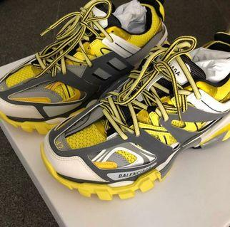 🚚 35% OFF BNIB Balenciaga Track Yellow Leather and Mesh Trainers
